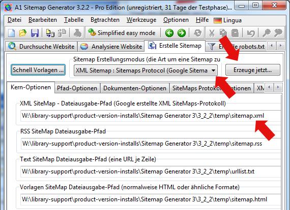 erstellen von html und xml sitemaps de